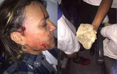 Ônibus que seguia para Canavieiras sofre tentativa de assalto, passageira fica ferida