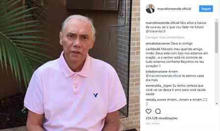 Tv Record: Marcelo Rezende surge muito magro, e compartilha vídeo em seu Instragam
