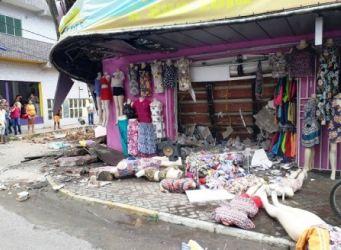 Itabuna: Vídeo-Teto de loja desaba e deixa cinco feridos