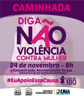 Prefeitura de Una realizará caminhada pelo fim da violência contra as mulheres