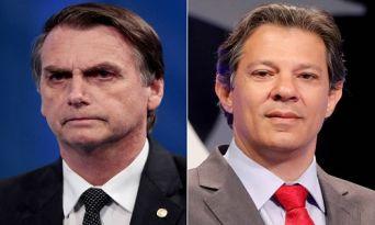 Pesquisa DataPoder360: Bolsonaro tem 64% dos votos válidos, Haddad aparece com 36%