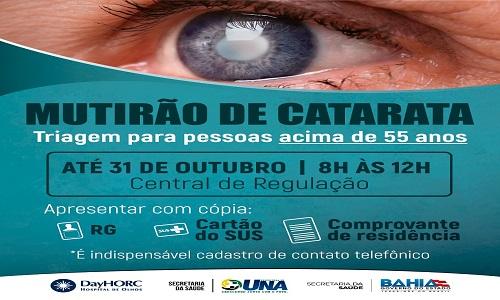 Prefeitura de Una realiza triagem para mutirão de cirurgia de catarata
