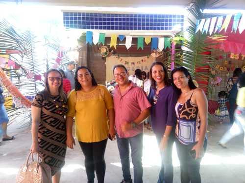 Una: Arraiá das escolas contou com a participação da DME Soelma Silva