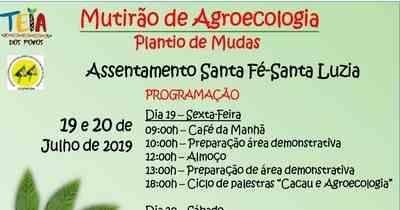 Mutirão de Agroecologia neste fim de semana, 19 e 20 de julho