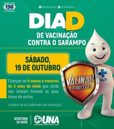 Dia D da Vacinação contra o Sarampo em Una