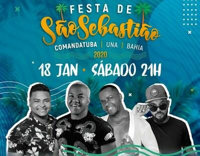 Comandatuba: Festa de São Sebastião, próximo sábado (18)