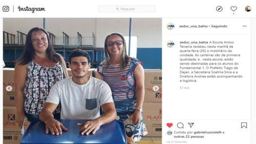 Una: Escola Anísio Teixeira recebe novo mobiliário