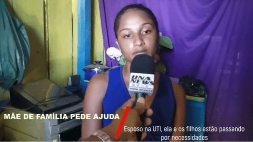 """Moradora de Una pede ajuda à população: """"Meus filhos precisam de alimentos"""""""