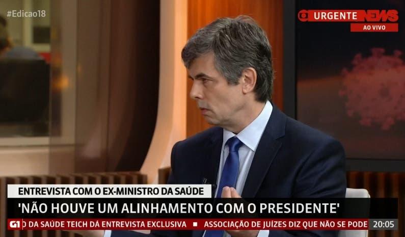 Vídeo: Ex-ministro da Saúde, Nelson Teich se irrita e detona GloboNews durante entrevista