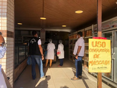 Covid-19: Prefeitura de Una intensifica fiscalização no comércio local