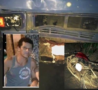 BR-101: Morador de Santa Luzia morre após colisão entre moto e caminhão