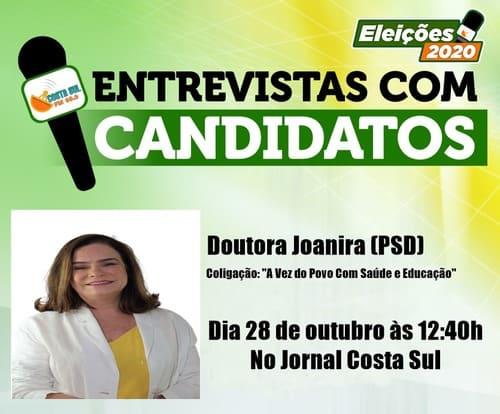 Eleições em Una: Dra Joanira será entrevistada hoje (28), na Rádio Costa Sul Fm