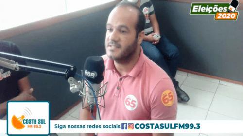 Rádio Costa Sul FM: Vídeo- Confira a entrevista com o candidato a Prefeito de Una, Érico Fontes