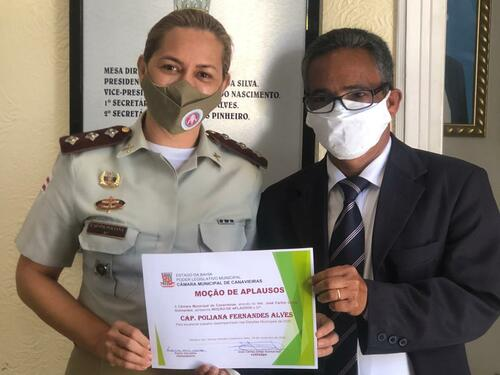 Canavieiras: Comandante da 71ªCIPM recebe Moção de Aplausos da Câmara Municipal