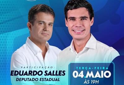 Una: Dep. Eduardo Salles estará no Programa Cola Com a Gente